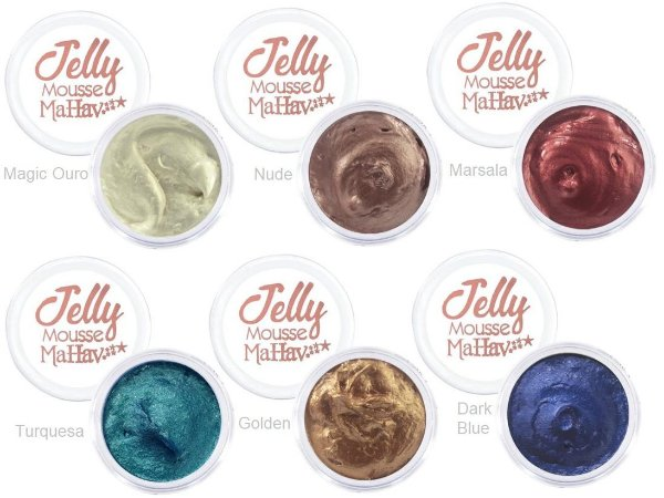 Sombra em Gel Jelly Mousse Mahav Kit 01 ( Display 24 Unidades)