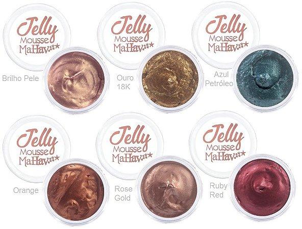 Sombra em Gel Jelly Mousse Mahav Kit 02 ( Display 24 Unidades)