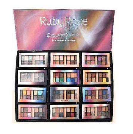 Paleta Ruby Rose Eyeshadow 12 Sombras + Primer HB9985A ( 48 Unidades )
