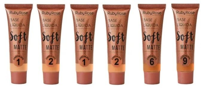 Base Soft Matte Ruby Rose Cores Escuras HB8050-3 Chocolate ( 06 Unidades )