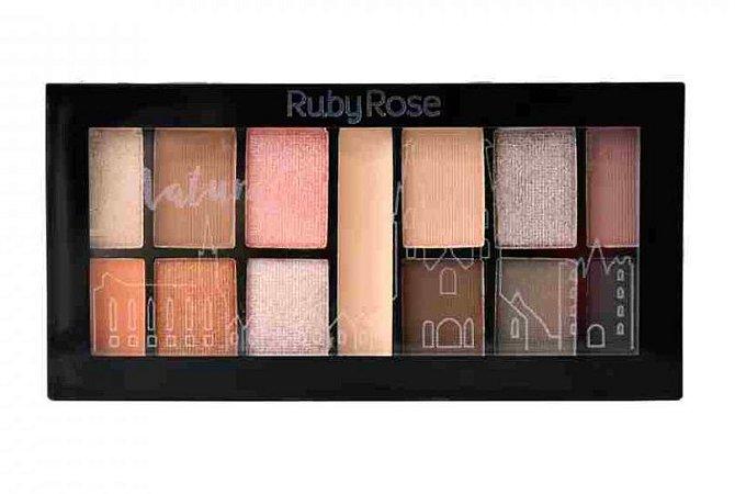 Paleta de Sombras Matte com Primer Natural Ruby Rose HB9985 -4