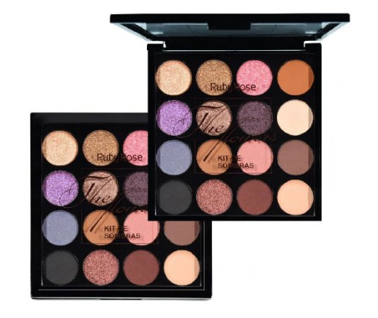 Paleta De Sombras 15 Cores The Flower Ruby Rose HB1018 ( 12 Unidades )