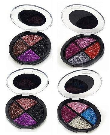 Quarteto de Glitter Mia Make - 4 unidades