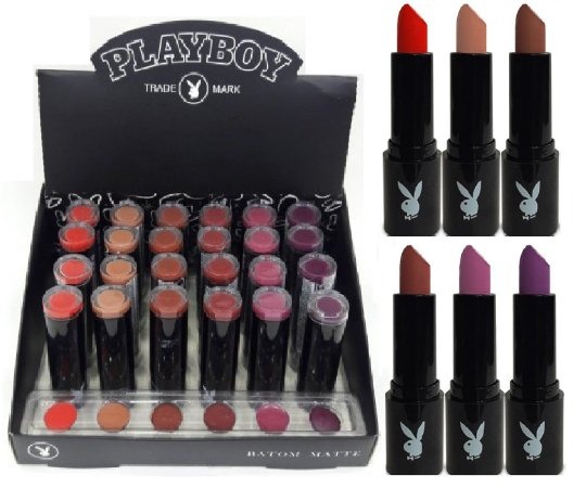 Batom de Luxo Matte Playboy PB1047 ( 24 Unidades + Provador )