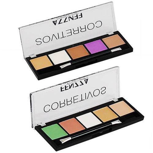 24 Paleta de Corretivo Facial Color Fenzza no DIsplay Expositor ( Valid 11/19 ) Queima de Estoque