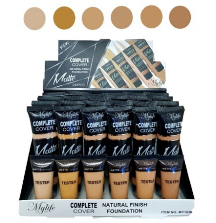 Base Matte Complete Cover 30 ML Mylife MY1830 ( 6 Unidades)