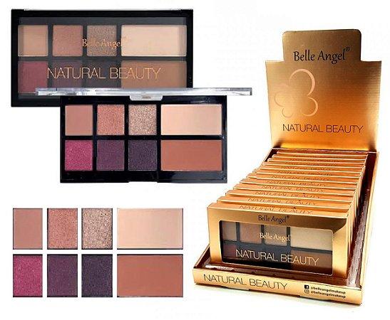 Display Paleta de Luxo Sombras e Contorno Natural Beauty Belle Angel T012 ( 12 Unidades )