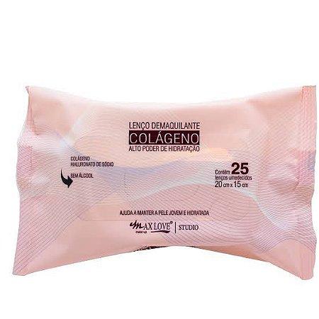 01 Pacote de Lenço Demaquilante HIdratante com Colágeno Maxlove