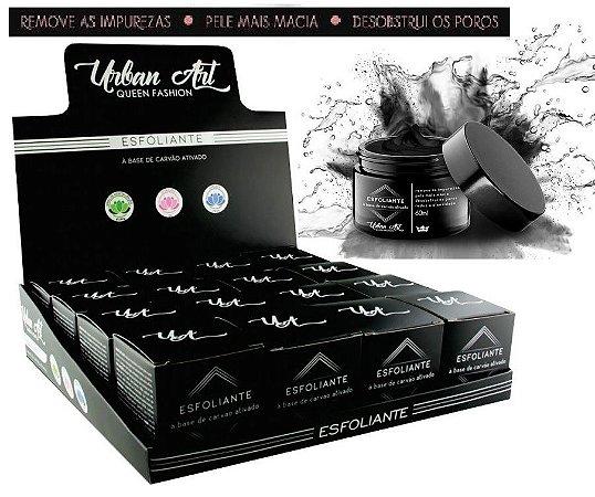 Esfoliante Facial de Carvão Ativado Queen QBXESC16 ( 16 Unidades )