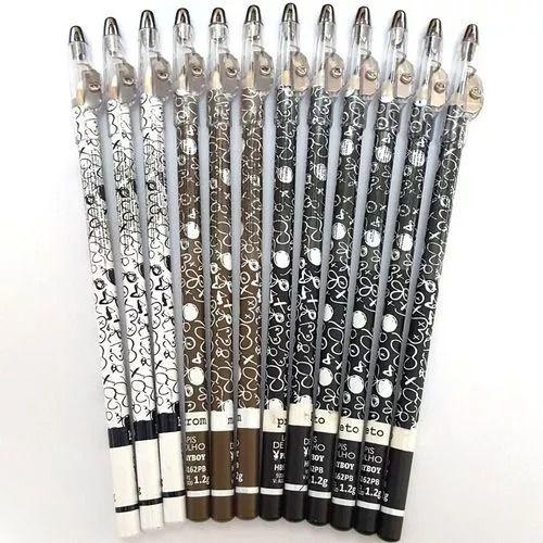 Lápis de Olho Mix Preto, Marrom e Branco com Apontador Playboy HB93162 ( 12 Unidades )