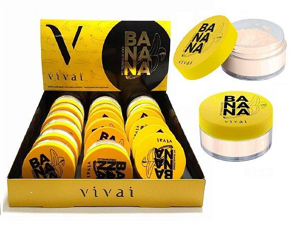 Display Pó Facial Translúcido Banana Vivai 1001 ( 18 Unidades )