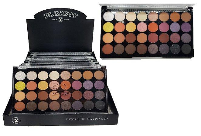 Display de Paletas de Sombras Matte 32 Cores Playboy HB96734 ( 12 Unidades )