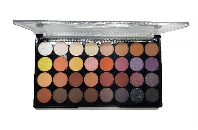 Paletas de Sombras Matte 32 Cores Playboy HB96734