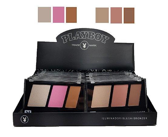 Kit de Maquiagem Iluminador, Blush e Contorno PLayboy HB96744 ( 01 Unidades )