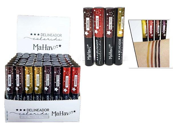 Mahav - Delineador Líquido Colorido  ( 12 Unidades )