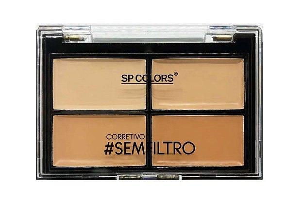Quarteto de Corretivo #semfiltro Facial 4 Tons SP Colors SP091