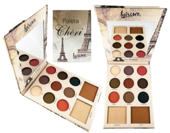 Paleta de Sombras, Blush e Iluminador Cheri Luisance L6057