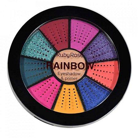 Paleta de Sombras + Primer Rainbow Ruby Rose HB-9986-1 ( 12 Unidades )