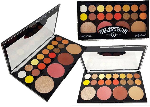 Display Paleta de Sombras, Iluminador, Blush e Contorno Playboy HB96648 ( 12 Unidades )