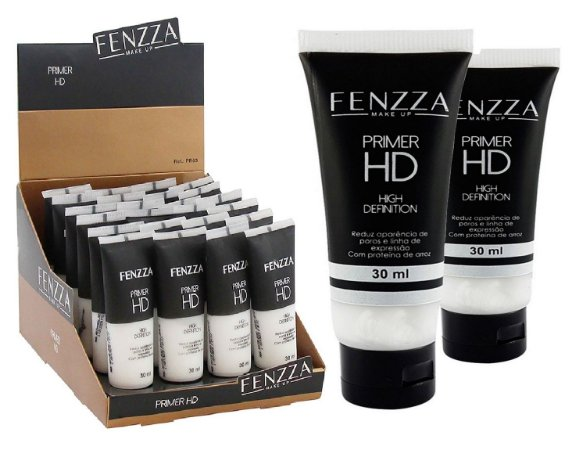 Display Primer Facial HD Fenzza PR63 - Box c/ 24 unid