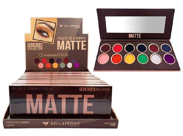 Paleta de Sombras Premium Collection Matte BF10065 ( 12 Unidades )