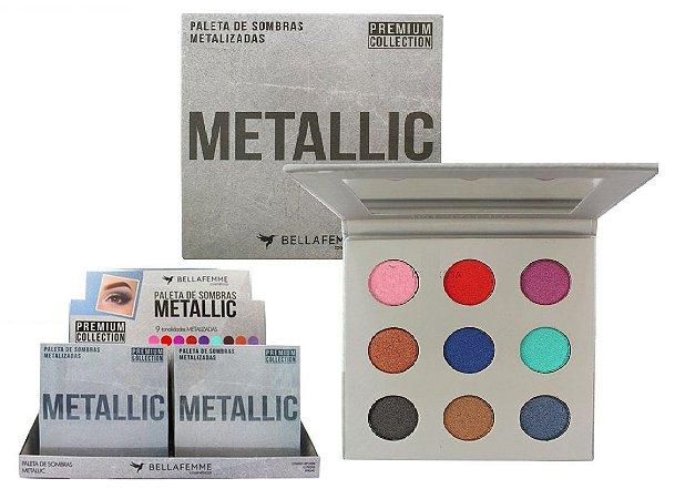 Paleta de Sombras Metallic Premium Collection BF10068 ( 12 Unidades )