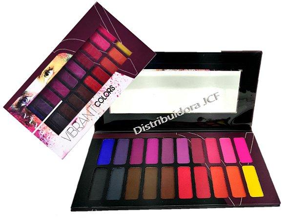 Paleta de Sombras Vibrant Colors 20 Cores Vivai 4011
