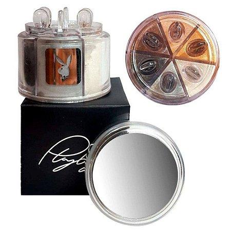 Estojo de Sombras Iluminadoras Asa de Borboleta 06 Cores Playboy HB89778PB