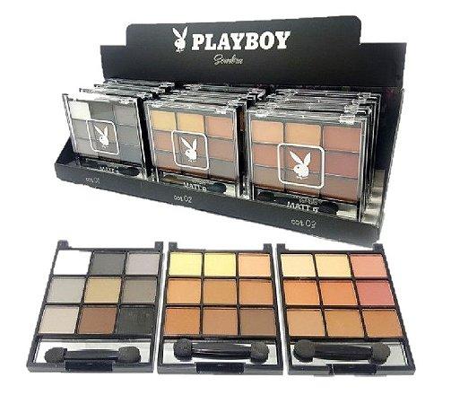 Paleta de Sombras Matte com Espelho Playboy HB89563 ( 12 Unidades )