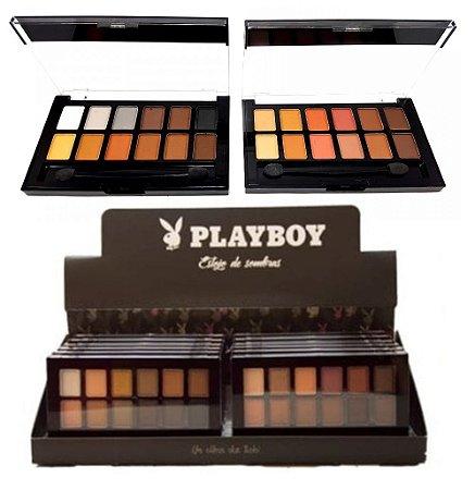 Paleta de Sombras Matte 12 Cores Playboy HB89553 ( 12 Unidades )