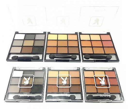 Paleta de Sombras Matte com Espelho Playboy HB89563 ( 3 Unidades )