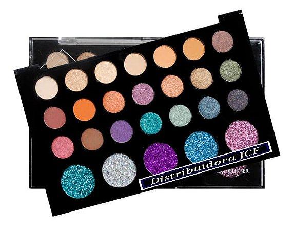 Paleta Sombra e Glitter Atitude SP Colors SP142-B