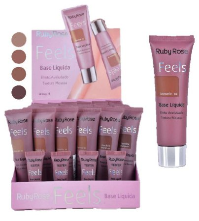 Nova Base Mousse Feels Ruby Rose HB8053-4 ( 48 Unidades + Provadores )