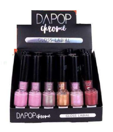 Gloss Labial Chrome Dapop DP2046 ( 06 Unidades)