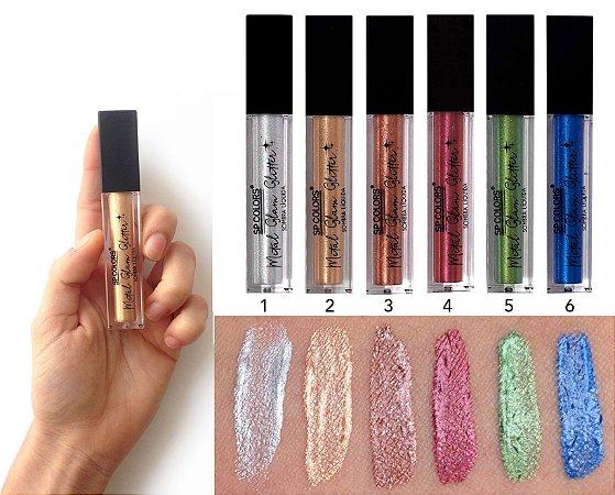 Sombra Glitter Metal Glam Líquida Alta Pigmentação SP118 ( 6 Unidades )