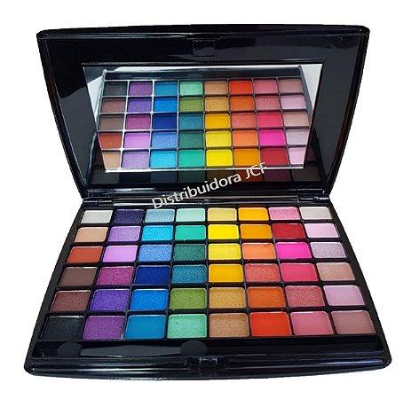 Paleta de Sombras Colorida 48 Cores My Everthing- Luxo com Espelho e PIncel  Jasmyne JS0706