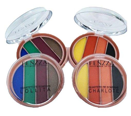 Fenzza - 2 Paleta de Sombras Alta Pigmentação Charlotte e Lolita  FZ10027 ( A e B )