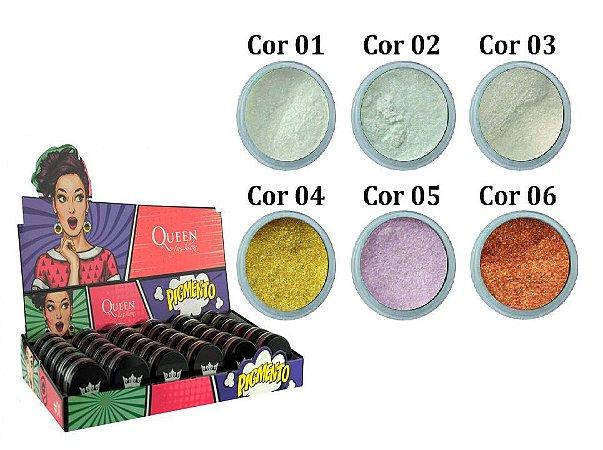 Sombra Iluminadora/ Pigmento em pó Queen QBX-SPA36 ( 36 Unidades )