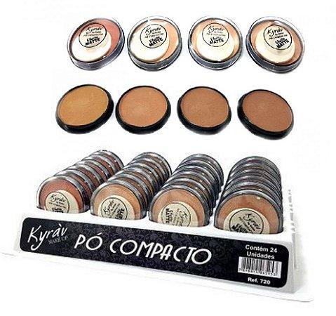 Pó COmpacto Matte Cores Escuras Kyrav 142 ( 24 Unidades )