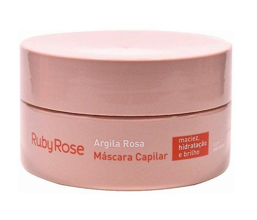 Mascara Capilar Argila Rosa Ruby Rose HB802 - Kit com 4 Unidades