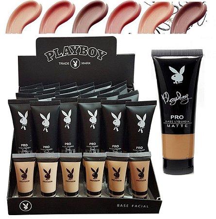 Base Matte Pro Playboy HB93110 - Kit com 24 Unid + Provadores