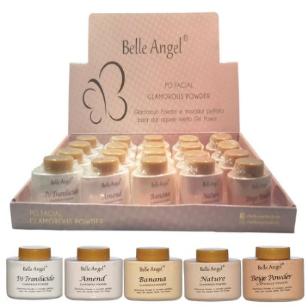 Belle Angel -  Facial Solto Translucido, Banana Glamorous Powder  B076 - Display com 20 unidades