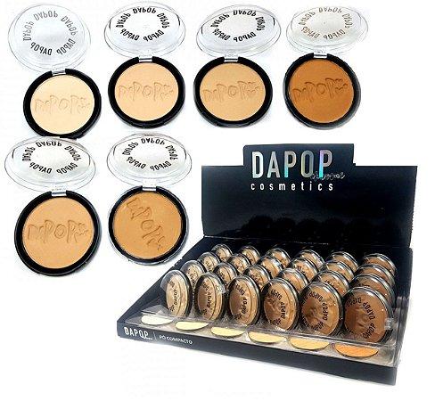 Pó Compacto Facial Cores Claras Dapop DP2010 - Kit c/ 6 unidades