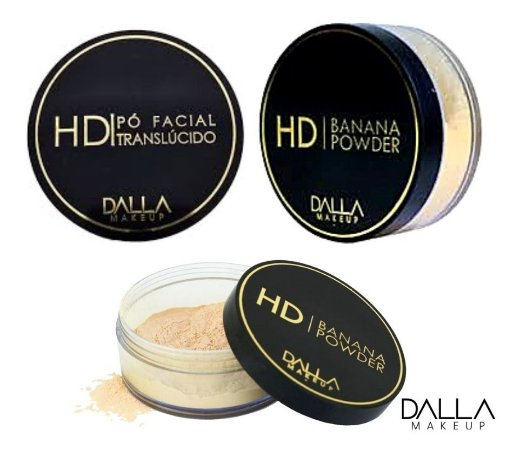 Pó Facial Vegano HD Banana Powder Dalla Makeup DL0109