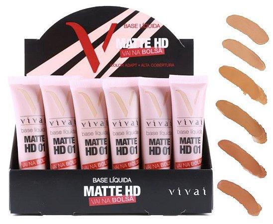 Base Matte HD Vai na Bolsa 12ml Vivai 1007 - Kit com 24 Unidades