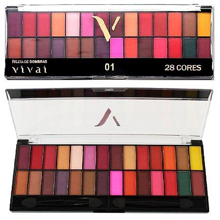 Vivai - Paleta de Sombras 28 Cores 2198 - 01