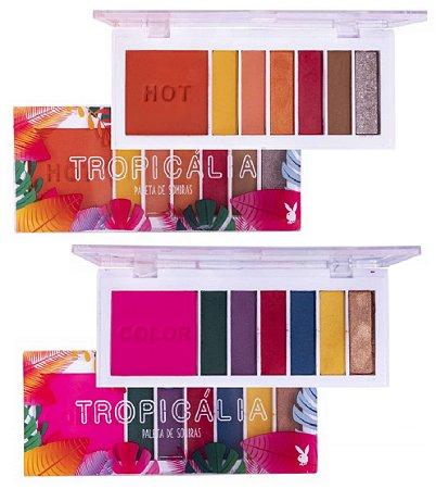 Paleta de Sombras Tropicalia Hot e Color PLayboy PB5009 - Kit com 2 Unidades