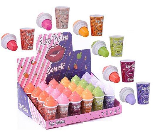 Vivai - Lip Balm Ice Cream 3018 - Kit com 24 Unidades