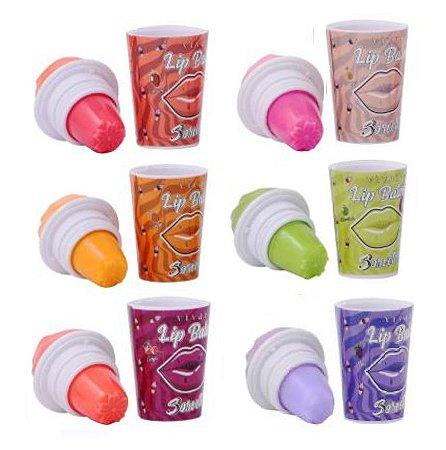 Lip Balm Ice Cream Vivai 3018 - Kit com 6 Unidades