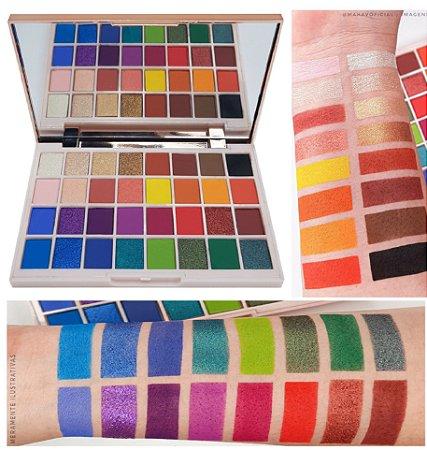 Paleta de Sombras Enjoy the Colors of Ther Word Mahav - Box com 12 Unidades